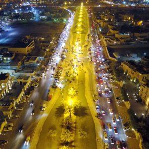مسيرة وطنية فى شارع الملك سلمان بالخبر ابتهاجاً باليوم الوطني