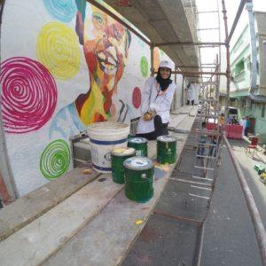 جرافيتي «الفن شرقي» ينثر الجمال في «صبيخة» الخبر
